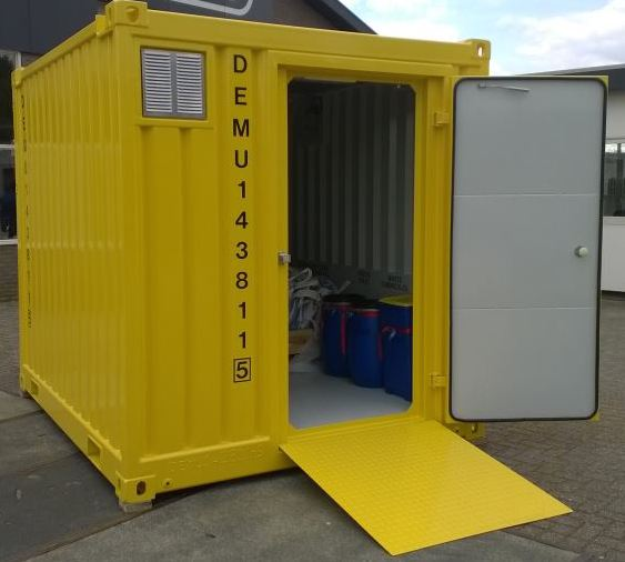 Delitek NL, first Offshore Certified Waste Container