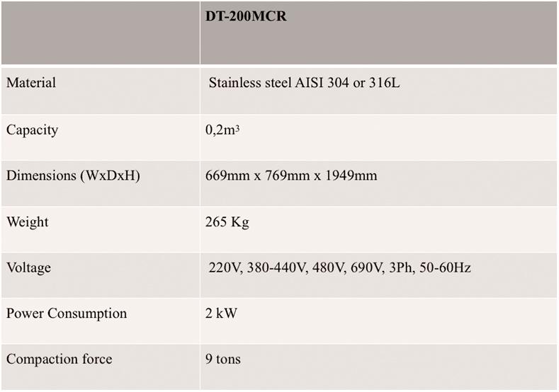 DT-200 MCR