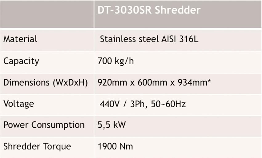 dt 3030sr shredder